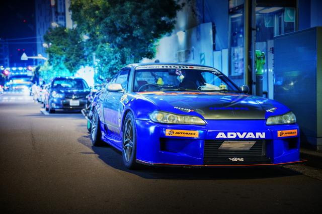 2014年7月6日撮影!秋葉原痛車ストリート(ザナヴィARTA仕様S15シルビア&カスタムバイク)