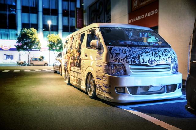 2014年6月21日撮影!秋葉原痛車ストリート(H200型ハイエース・Z33型フェアレディZロードスター)