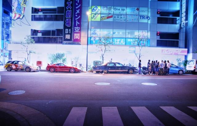 2014年8月15日コミケ86初日終了後撮影(秋葉原通り、大黒パーキングエリア、東京ビッグサイト)