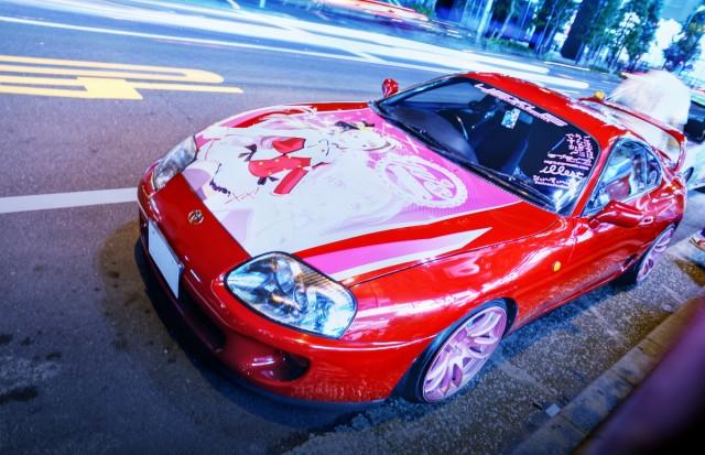 2014年8月15日コミケ86初日終了後撮影!秋葉原痛車ストリート(ラブライブ!80スープラ(UEXUSしのえもんさん))