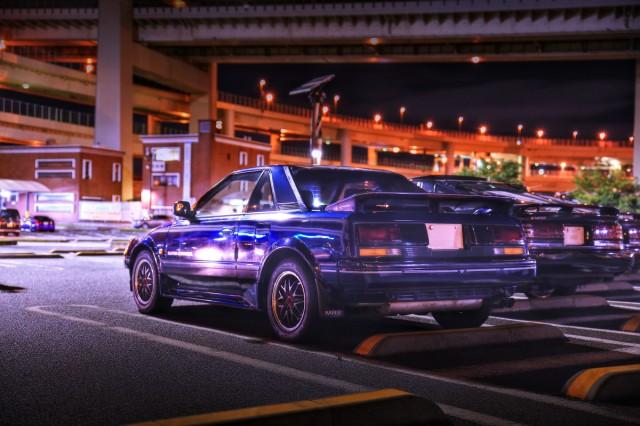 2014年8月17日大黒PA開催!A70ミーティング(JZA70スープラ25GTツインTBエアロトップ・AW11型トヨタMR2スーパーチャージャー)