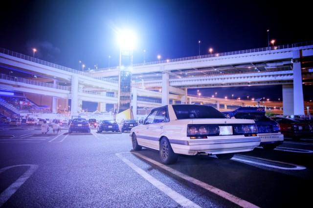 2014年8月17日コミケ86最終日終了後!大黒パーキング撮影(EK9型シビック・タイプR・R31スカイライン4ドア)