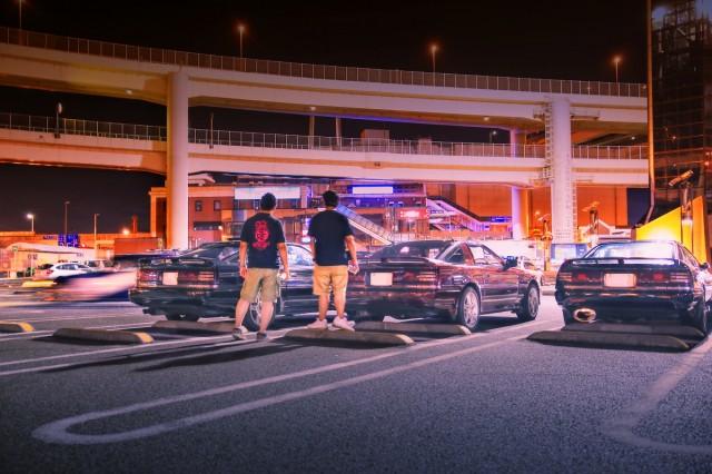 2014年8月17日大黒PA開催!A70ミーティングその3(JZA70スープラ3台・ミーティング全体風景)