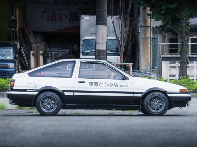 新劇場版「頭文字D・覚醒」デモカー!AE86スプリンタートレノGT・APEX&映画「頭文字D・Legend1」エキゾースト録音の様子動画