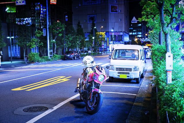2014年9月12日撮影!秋葉原痛車ストリート(ホンダCB400SF(ていおーさん))