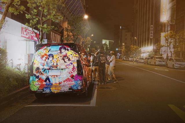 2014年8月24日31日撮影!秋葉原痛車ストリート(ラブライブ!矢澤にこ×西木野真姫仕様トヨタVOXY(KAZUさん))