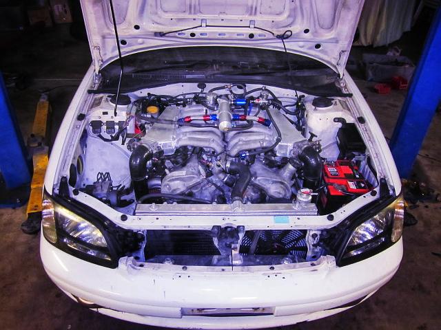 (海外)センチュリー用V12型1GZ改ツインターボスワップ!BE型スバル・レガシィB4(リバティ)[中古車ネタではありません]