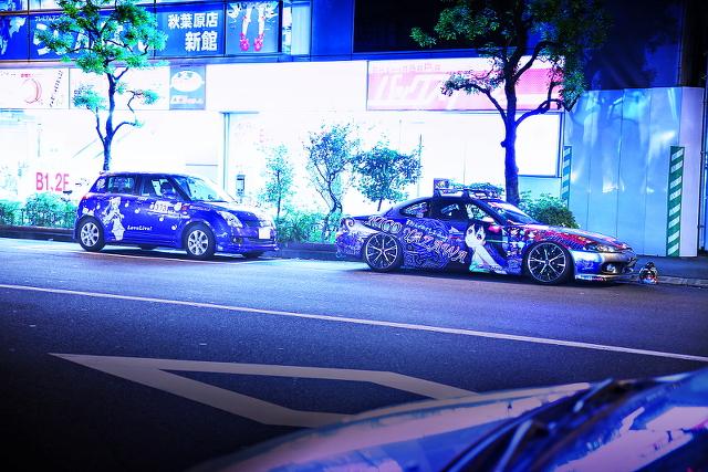 2014年9月15日撮影!秋葉原痛車ストリート(S15シルビア(ゆーたさん)、スズキスイフト(上等兵さん))