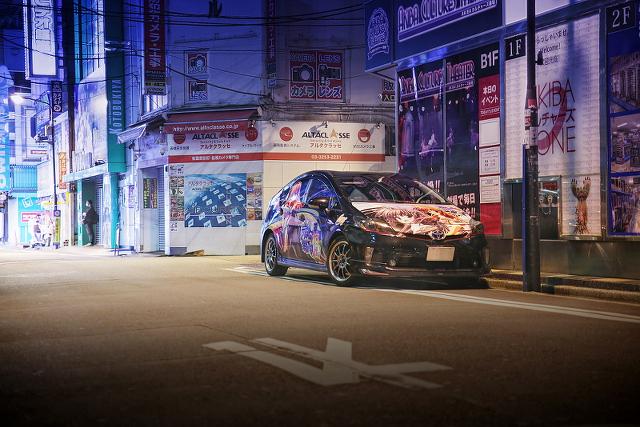 2014年9月14日撮影!秋葉原痛車ストリート(星空へ架かる橋中津川初・ZVW30型プリウス)