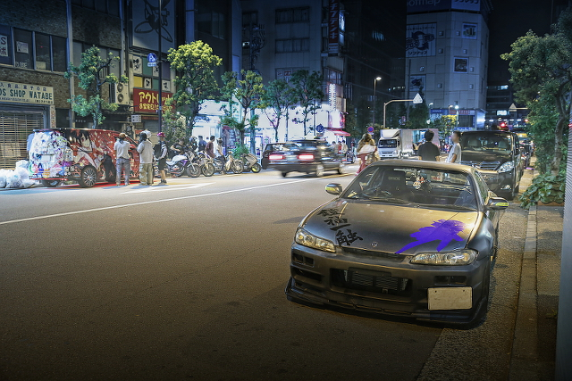 2014年9月14日撮影!秋葉原痛車ストリート(S15シルビア・JZX100マーク2・にこまきVOXY・S15シルビア)