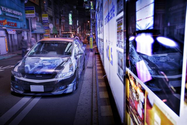 2014年10月17日撮影!秋葉原痛車ストリート(天ノ弱/164feat.GUMI仕様ホンダ・オデッセイ)