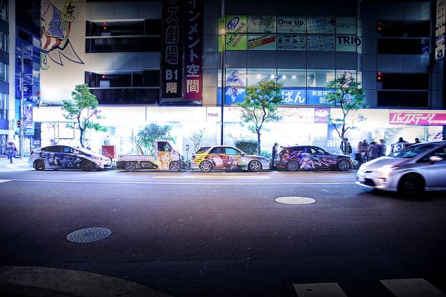 2014年10月17日撮影!秋葉原痛車ストリート(黒ミクファード・アルトバン・BMW・インプレッサワゴン・プリウス)