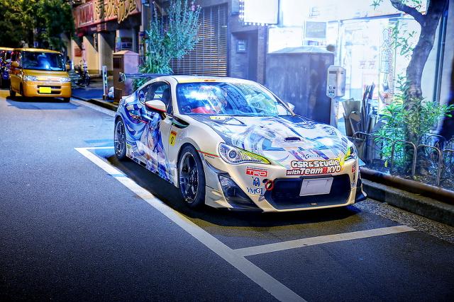 2014年10月24日撮影!秋葉原痛車ストリート(レーシングミク仕様・ZN6型トヨタ86)