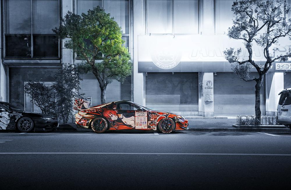 2014年10月17日撮影!秋葉原痛車ストリート(デート・ア・ライブ仕様80スープラ)
