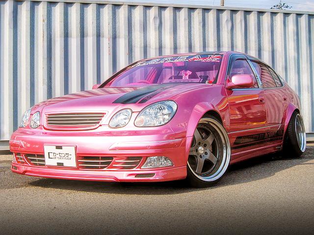 東京 オートサロン2012出展!K-BREAK製作デモカー!JZS160型ピンクアリスト&掲載車の動画