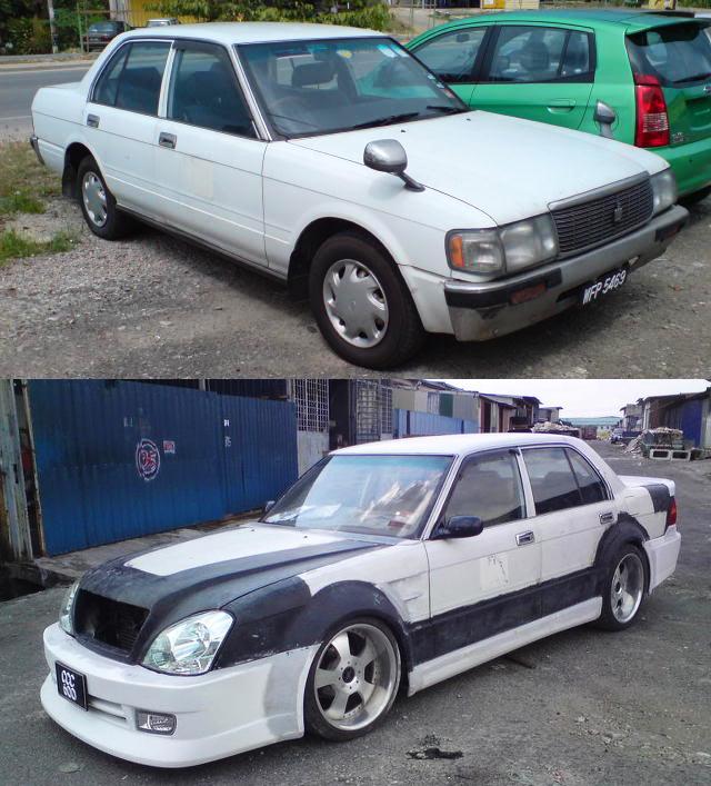 (マレーシア)元タクシー!?前後レクサスLS430化ワイドボディ仕様!130系クラウンセダン