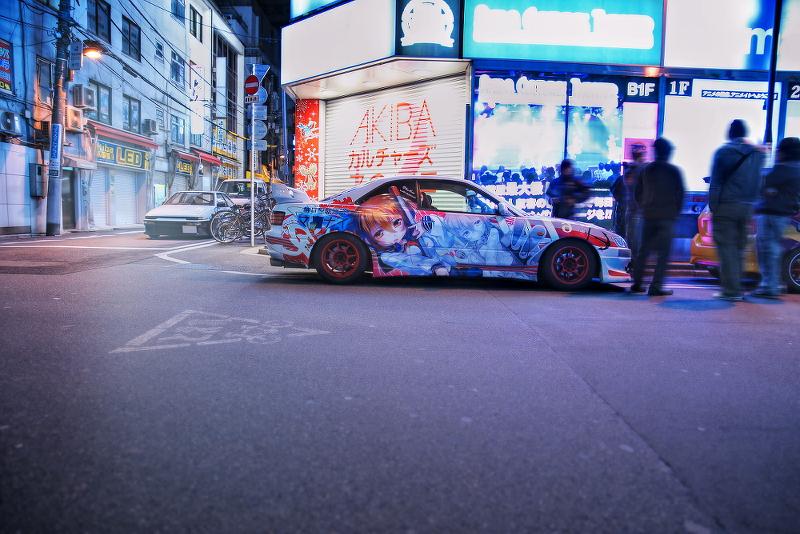 2014年12月19日撮影!秋葉原痛車ストリート(プリウス(酔涼さん)/BMW130i(まっちさん)/艦これ電・カローラレビン)