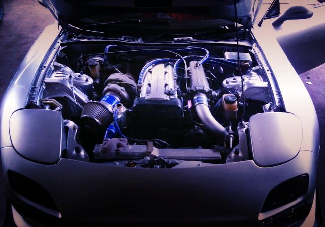 (マレーシア)2JZエンジン換装シングルターボ仕様!FD3SアンフィニRX-7改ワイドボディ