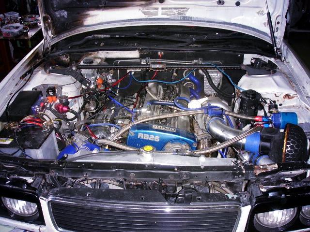 (ロシア)RB26DETTエンジン移植!シングルフルタービン仕様!Y32日産セドリック