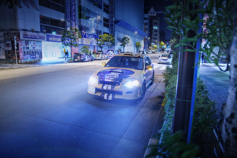 2014年12月12日撮影!秋葉原痛車ストリート(ラブライブ!東條希/BPスバル・レガシィツーリングワゴン)