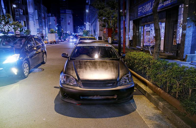 2014年12月6日撮影!秋葉原痛車ストリート(EK型ホンダ・シビック(やーまんさん))