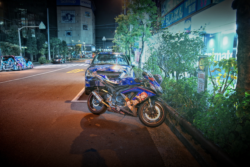 コミケ87二日目前日2014年12月28日撮影!秋葉原痛車ストリート