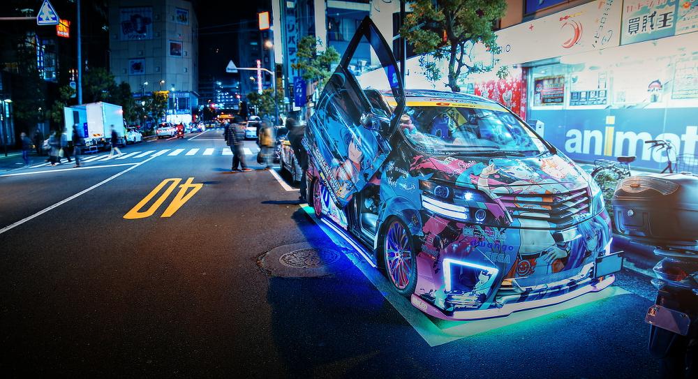 2014年12月12日撮影!秋葉原痛車ストリート(黒ミクファード(梅吉さん)/初音ミク仕様セリカ)
