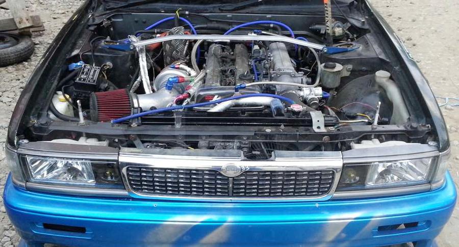 (ロシア)2JZ-GTEエンジン移植GT3582タービン仕様!JZX100用5MT!C33日産ローレル&NYM2015動画その3