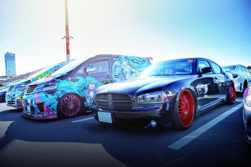 東京オートサロン2015裏サロンその3!(ダッジチャージャー・S15シルビア・ミクリン号・黒ミクファード)