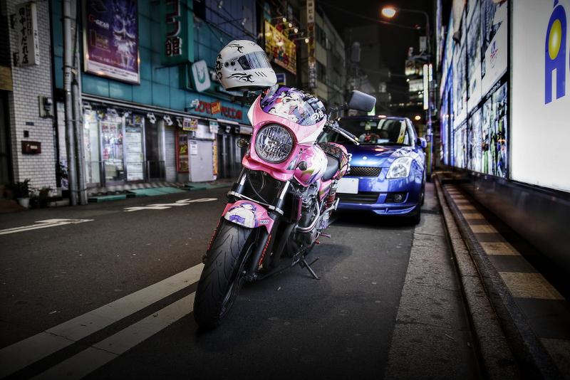 2015年1月16日撮影!秋葉原痛車ストリート(インプレッサワゴンWRX/ダイハツミラ/CB400SF)