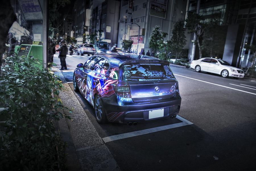 2015年2月6日撮影!秋葉原痛車ストリート(蒼き鋼のアルペジオ・タカオ/BMW130i・Mスポーツ)