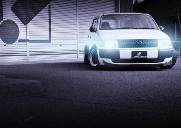 オーバーフェンダーワイド!センター出しマフラー!エイトスポーク!プロボックスバンDX&Z31フェアレディZの中古車