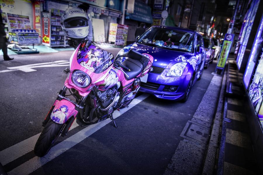 2015年2月6日撮影!秋葉原痛車ストリート(南ことりスイフト/矢澤にこS15シルビア/東條希CB400SF)