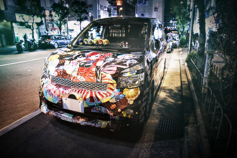 2015年2月13日撮影!秋葉原痛車ストリート(ヴォクシー/スイフト/S15シルビア/ホンダCB400SF)
