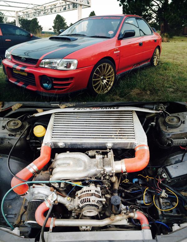 (南アフリカ)500馬力!13Bロータリーエンジン移植T88タービン!スバルGC8インプレッサWRX・STI