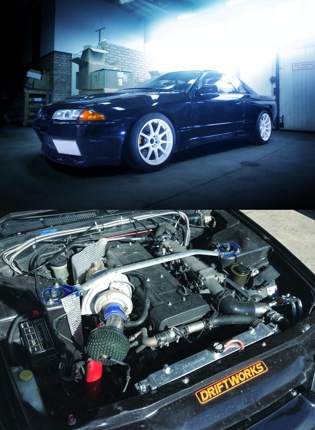 (ポーランド)500馬力!30ソアラ用1JZ-GTEエンジン換装!APブレーキ!Z33用6速MT!HCR32スカイラインGTS-TタイプM