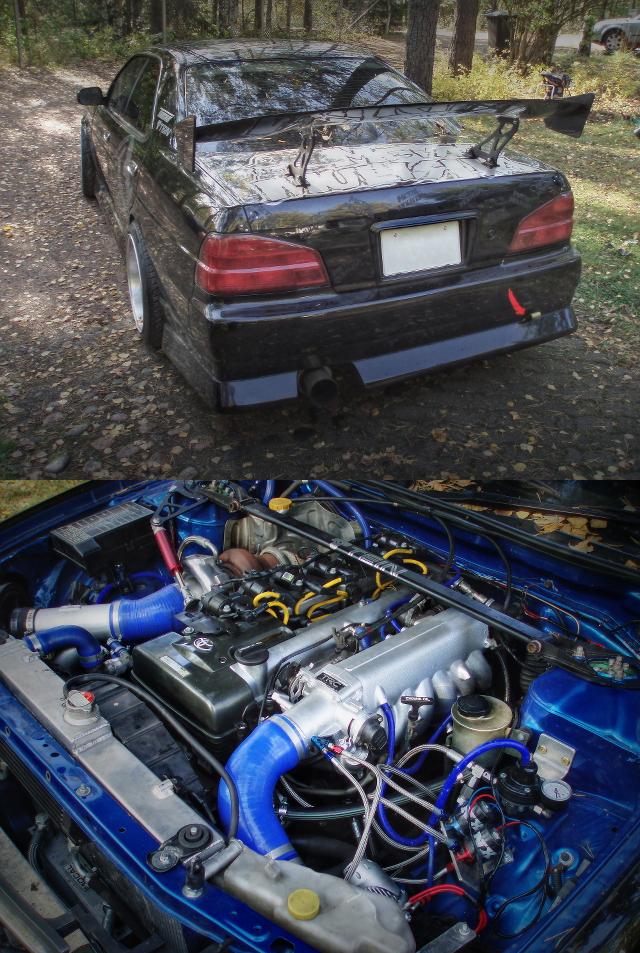 (海外)550馬力!2JZ-GTEエンジン換装!ハルテック制御!C35日産ローレル&NOS仕様LS1換装FC系RX-7動画
