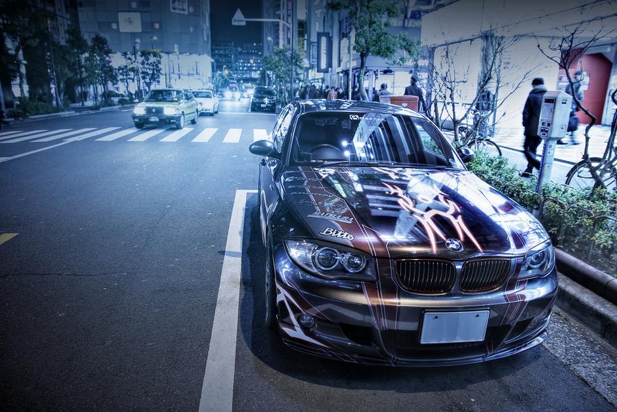 2015年2月27日撮影!秋葉原痛車ストリート(BMW130iMスポーツ(まっちさん)/インプレッサワゴンWRX(TOMOさん))