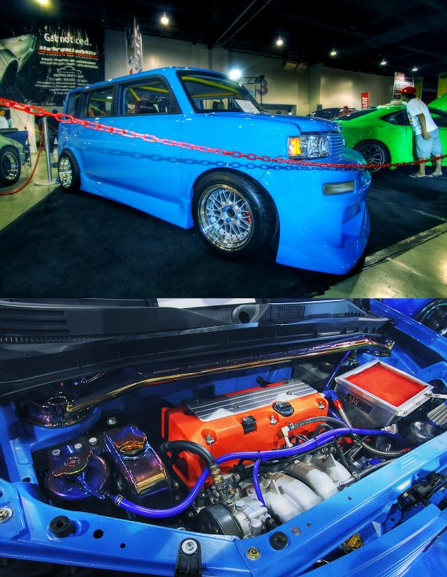 (フィリピン)K20型VTECエンジン換装!チョップド!初代トヨタBB&草ヒロ!ホンダ・トゥデイ