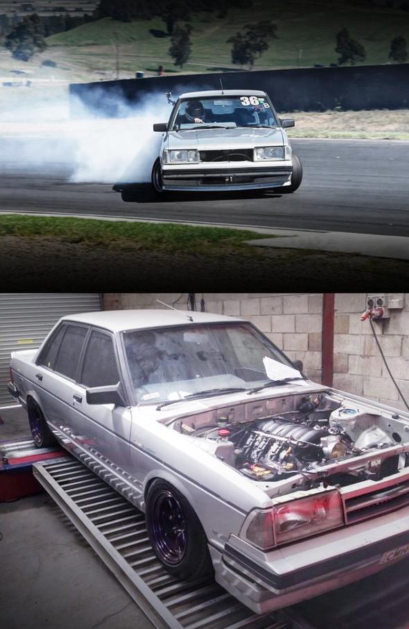 (海外)V8型LS1エンジンT56型6速MT換装!6代目910型ブルーバード4ドア&RB20DET換装240SX動画