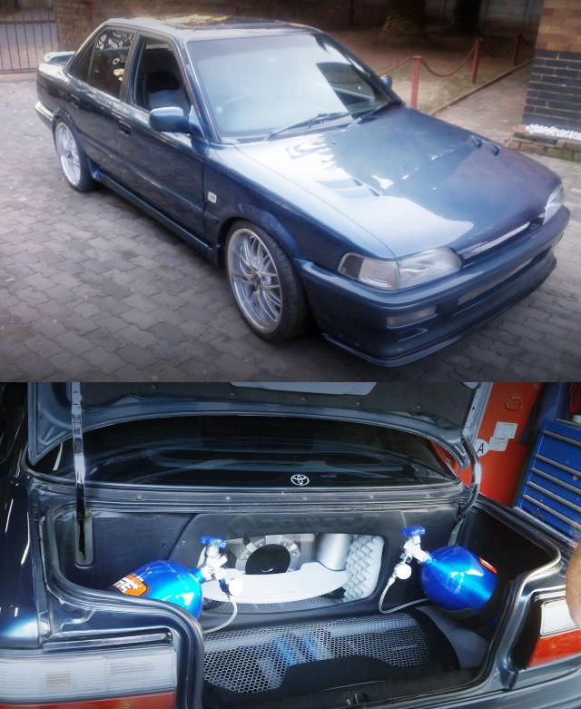 (海外)NOS搭載!3SGTEエンジン改GT35ウエストゲートターボ!E90型カローラ4ドア&V8エンジン換装RX8動画