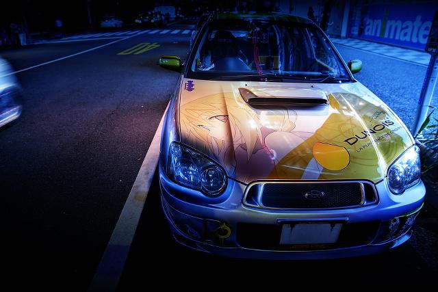 2015年3月20日撮影!秋葉原痛車ストリート(インプレッサワゴンWRX(TOMOさん)/BMW130i(まっちさん)/カワサキNinja)