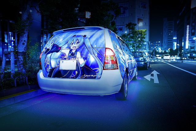 2015年3月20日撮影!秋葉原痛車ストリート(初音ミク・風の子2号機/トヨタ・カローラフィールダー)