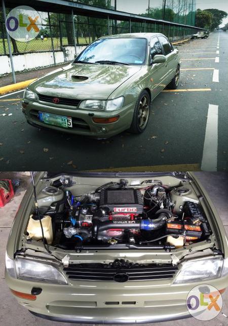 (フィリピン)4E-FTEターボエンジン移植!E100トヨタ・カローラ4ドア&2JZ換装オペル・カリブラ動画