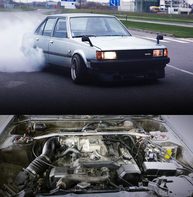 (海外)レクサスSC用1UZ-FEエンジン移植!TA60トヨタ・カリーナ&LS6エンジン換装miataMX5動画