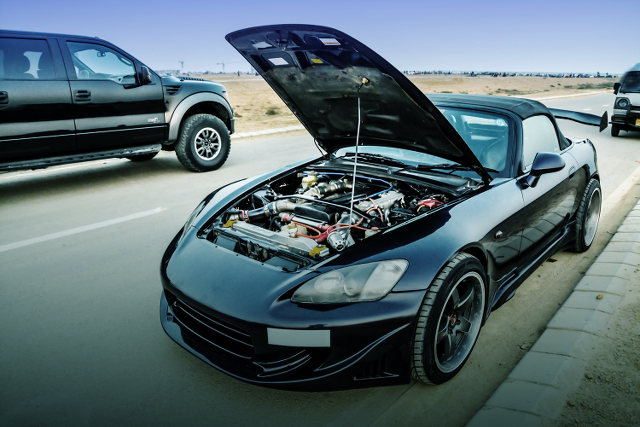 (パキスタン)1JZ-GTEツインターボEGスワップ/R154型5速MT!ホンダS2000&スカイライン旧車ミーティング動画