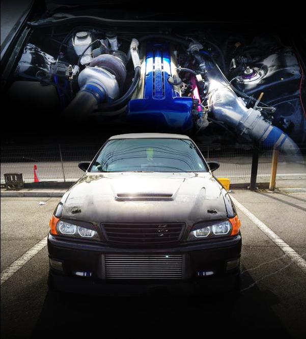 エンジン改造費400万円!500馬力!2JZエンジンスワップ公認T88-34Dタービン金プロ制御!JZX100チェイサー