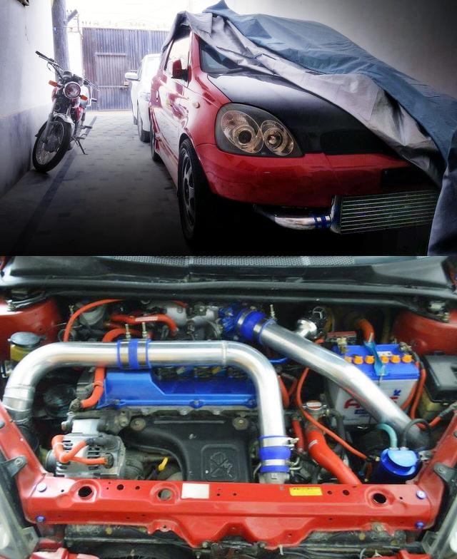 (パキスタン)3S-GTEターボEG換装!セリカ用4WD足回り移植!初代トヨタ・ヴィッツRS
