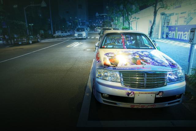 2015年4月3日撮影!秋葉原痛車ストリート・ラブライブ!痛車(Y34セドリック/Y34グロリア/スズキ・スイフト)