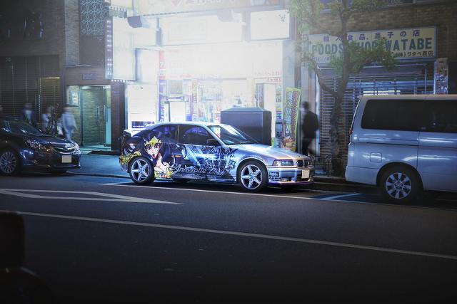 2015年4月3日撮影!秋葉原痛車ストリート(クイーンズブレイド・E36BMW318ti/TVRサーブラウ)